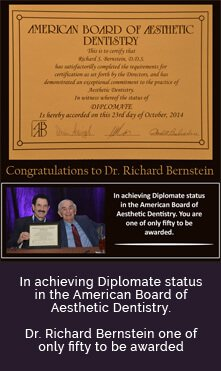 Diplomate status in the American Board of Aesthetic Dentistry.